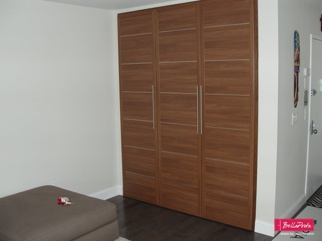 Hallway Closet In Canaletto Walnut. STILIA Collection Bedroom Door